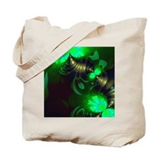 Irish Goblin Emerald Gold Ribbons Tote Bag
