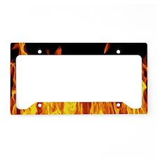 Flames License Plate Holder