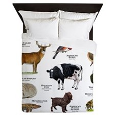 Wisconsin State Animals Queen Duvet