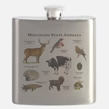 Wisconsin State Animals Flask