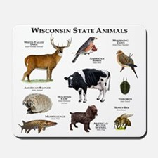 Wisconsin State Animals Mousepad