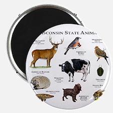 Wisconsin State Animals Magnet