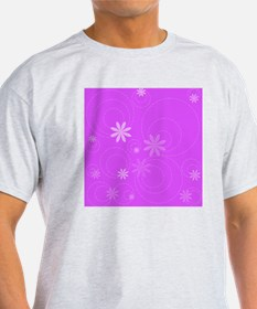 flowers and swirls fuchsia T-Shirt