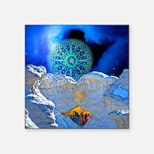"Winter Solstice Light round Square Sticker 3"" x 3"""