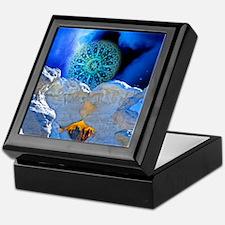 Winter Solstice Light round Keepsake Box