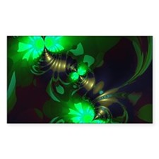 Irish Goblin Emerald Gold Ribb Decal