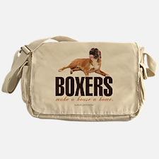 Boxers Make a House a Home Messenger Bag