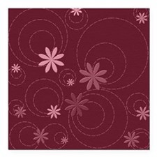 """flowers and swirls deep  Square Car Magnet 3"""" x 3"""""""