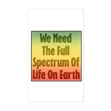 Full Spectrum of Life Rectangle Decal