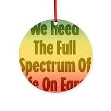 Full Spectrum of Life Ornament (Round)