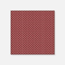 "small dots burgundy Square Sticker 3"" x 3"""