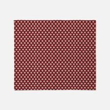 small dots burgundy Throw Blanket