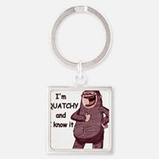 squatchy and i know it Square Keychain