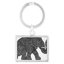 Elephant Teen shirt Landscape Keychain