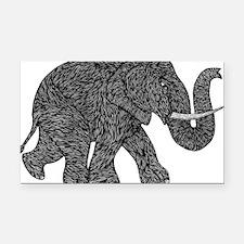 Elephant Teen shirt Rectangle Car Magnet