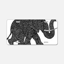 Elephant Teen shirt Aluminum License Plate