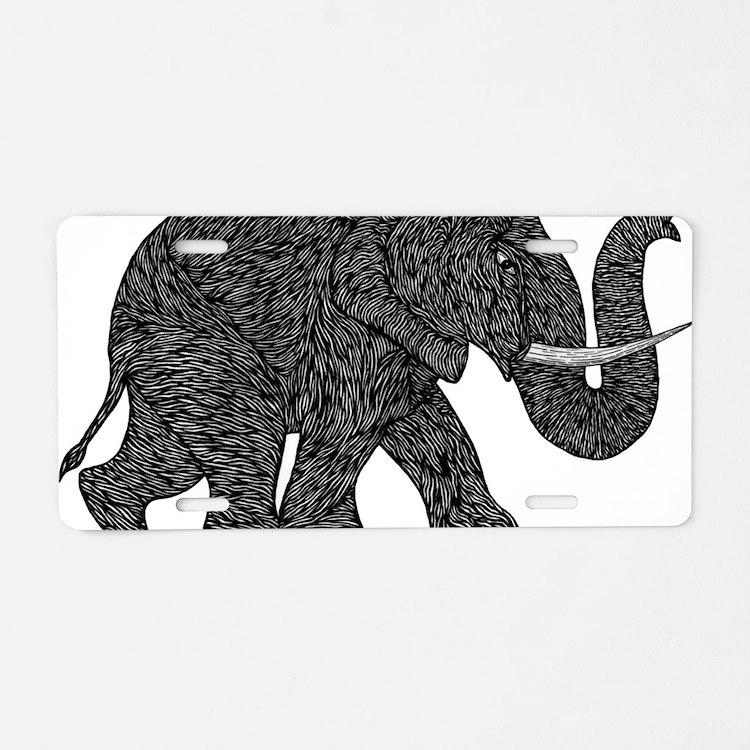 Elephant Teen shirt Aluminum License Plate