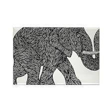 Elephant Teen shirt Rectangle Magnet