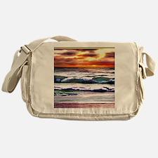 Sunset Over the Ocean Messenger Bag