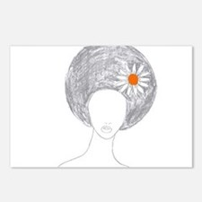 Afro girl Postcards (Package of 8)