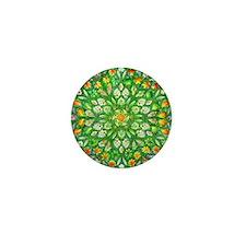 Forest Rose Mandala round Mini Button