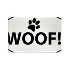 Woof! Rectangle Magnet