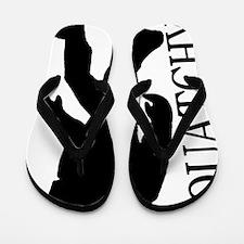 silhouette squatch black Flip Flops