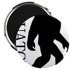 silhouette squatch black Magnet