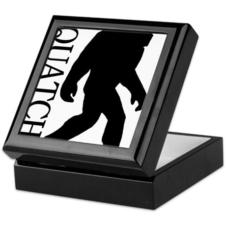 silhouette squatch black Keepsake Box
