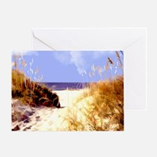 A Peek Through the Dunes to the Ocea Greeting Card