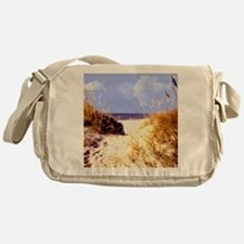 A Peek Through the Dunes to the Ocea Messenger Bag