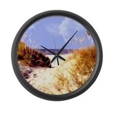 A Peek Through the Dunes to the O Large Wall Clock