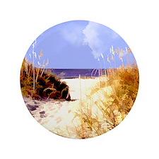 """A Peek Through the Dunes to the Ocean 3.5"""" Button"""