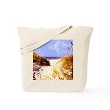 A Peek Through the Dunes to the Ocean Tote Bag