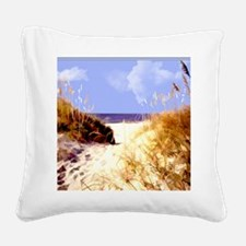 A Peek Through the Dunes to t Square Canvas Pillow