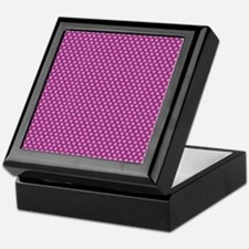 small dots fuchsia Keepsake Box