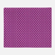 small dots fuchsia Throw Blanket