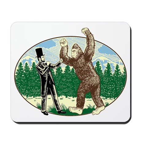 abe lincoln squatch Mousepad