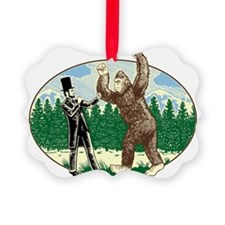 abe lincoln squatch Ornament