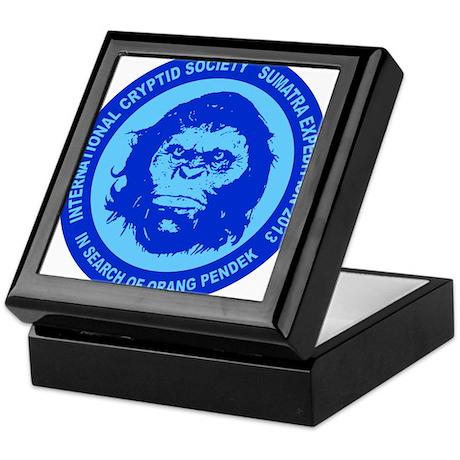 Orang Pendek blue Keepsake Box