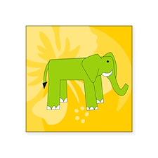 "Elephant Mens Wallet Square Sticker 3"" x 3"""