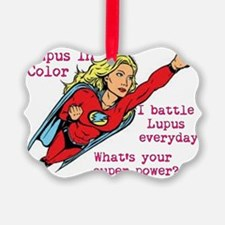 Battling Lupus Ornament