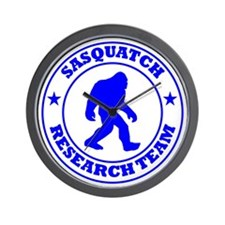 sasquatch research team blue Wall Clock