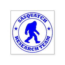 """sasquatch research team blu Square Sticker 3"""" x 3"""""""