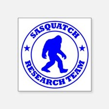"sasquatch research team blu Square Sticker 3"" x 3"""