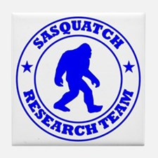 sasquatch research team blue Tile Coaster