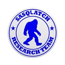 sasquatch research team blue Round Ornament