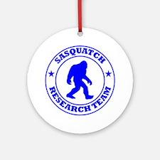 sasquatch research team blue Round Ornament