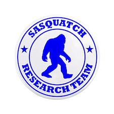 """sasquatch research team blue 3.5"""" Button"""