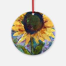 Sunflower Sunday Round Ornament